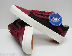 17948a1b47 Vans Men s Old Skool CA Leather   Wool Biking Red Black ( LAST ...