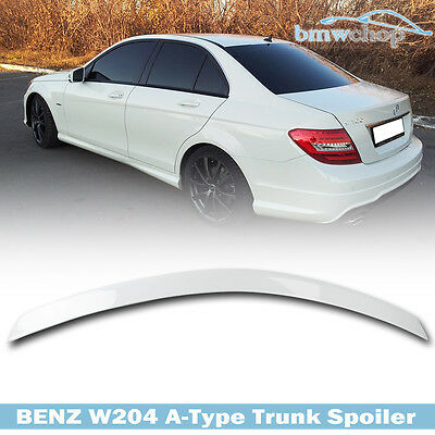 PAINTED For Mercedes Benz W204 C CLASS A TYPE REAR BOOT TRUNK SPOILER 08 13