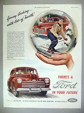 Ford Motor Car PRINT AD - 1946 ~~ crystal ball, snow globe