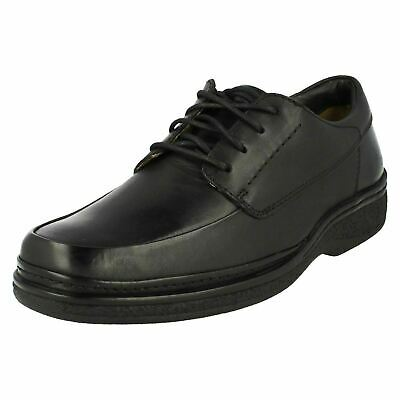 mens clarks black leather lace up casual shoes style