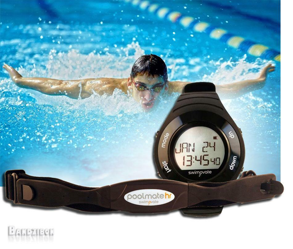 Swimovate Poolmate HR goldlogio Cardio Computer Contavasche Nuoto Vibrazione NEW