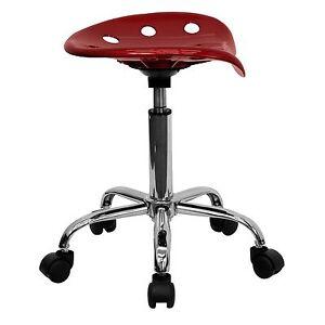 Adjustable Hydraulic Stool Wheels Work Shop Garage Seat