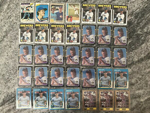 Robin-Yount-125-Card-Lot-Fleer-Topps-Donruss-O-pee-chee-Sportsflics