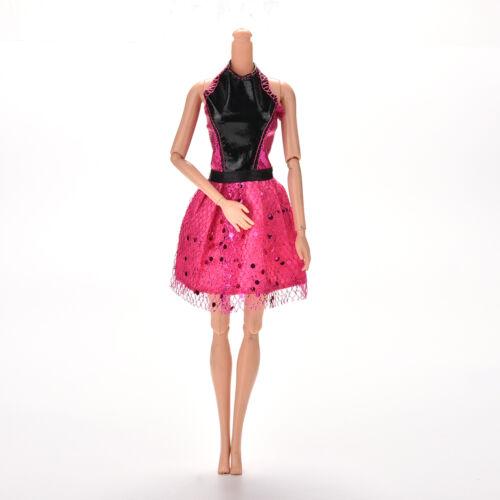 "1 Pc Rose Black Handmade Wedding Lace Dress for 11/"" s Dolls 13cm Best LP"