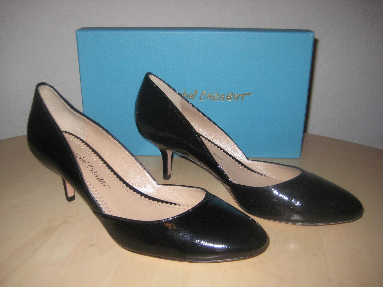 Jean Michel Cazabat shoes EUR 38.5 US 8 M Womens New Patricia Black Patent Heels