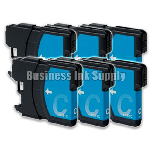 6 CYAN New LC61 Ink Cartridge for Brother Printer DCP-585CW MFC-J630W LC61C