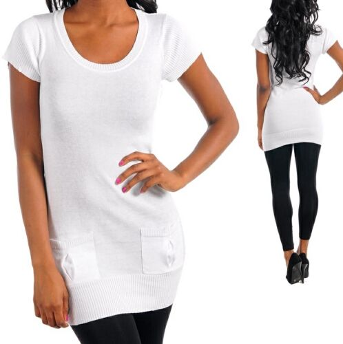 White Cap Sleeve Cardigan//Sweater Tunic Top S//M//L *3 Colors*