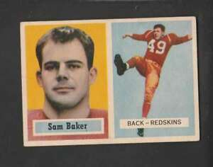 1957-Topps-72-Sam-Baker-VGEX-RC-Rookie-Redskins-152101