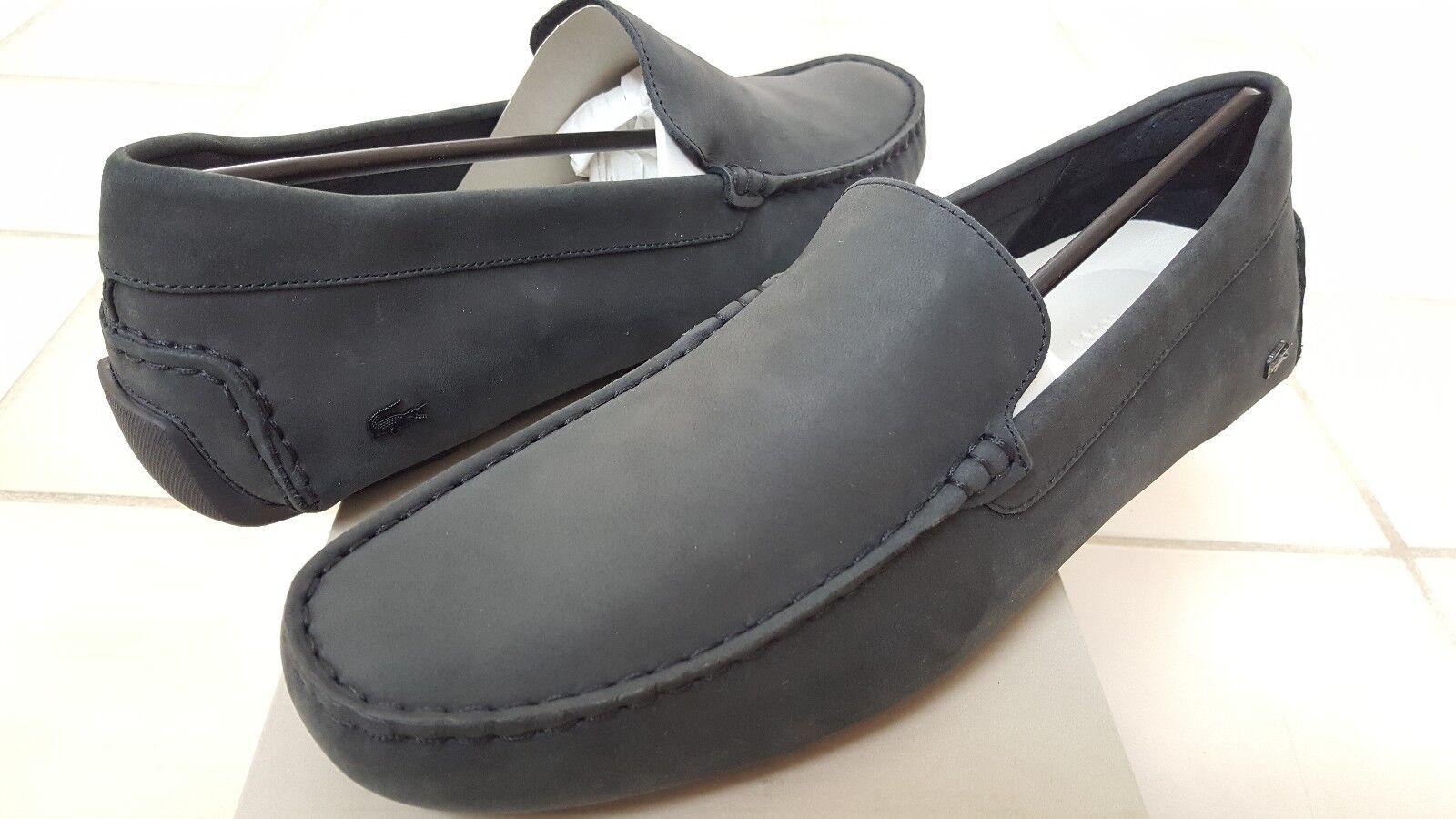 959370746e0843 Lacoste 0784 Mens Piloter 316 Black Nubucke Loafers Shoes 11 Medium ...