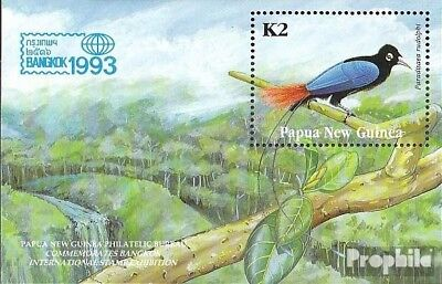 Enthusiastic Papua-guinea Block5 Mint Never Hinged Mnh 1993 Paradiesvogel