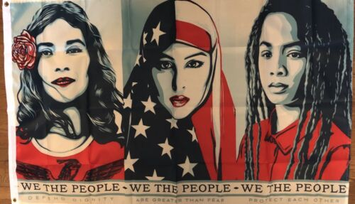 Women/'s March Flag 3x5 We The People Banner Trump Clinton Campaign