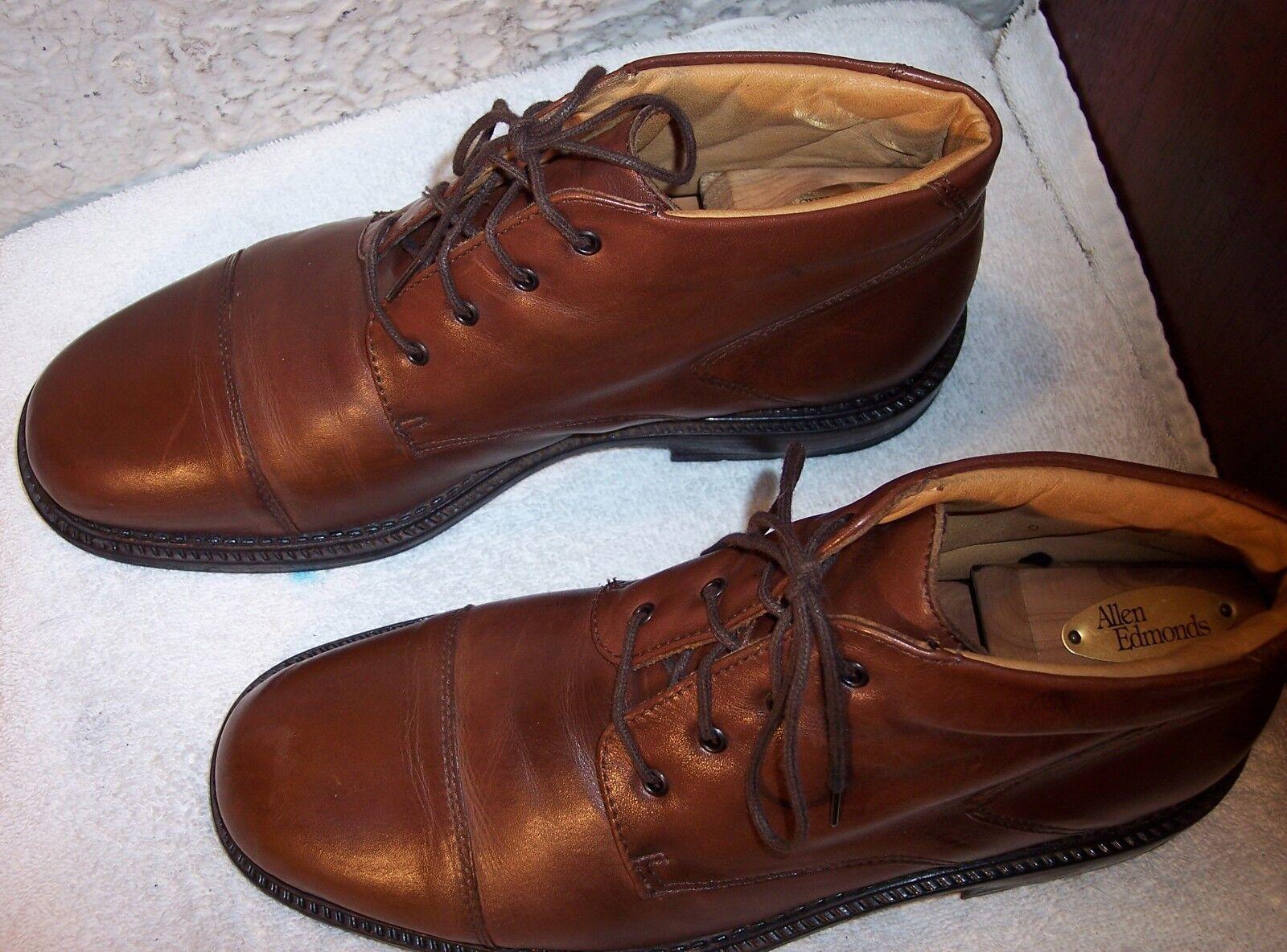 Borelli 9M  Marronee Calfskin Leather Cap -Toe Ankle stivali   Spedizione gratuita per tutti gli ordini