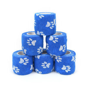 5cm-x-4-5m-Cohesive-Flexible-Bandage-Cotton-Sports-Tape-Self-Adhesive-Pip-GN-hi