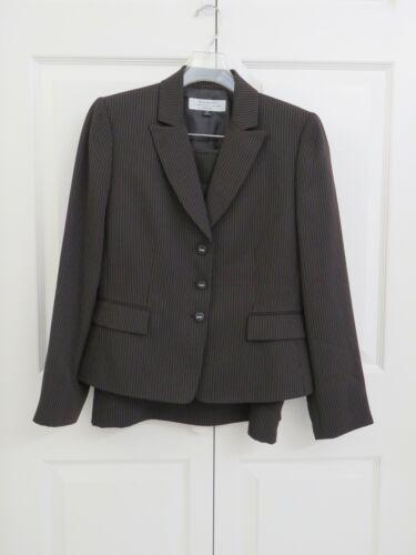 Tahari 3 Piece Pinstrip Suit
