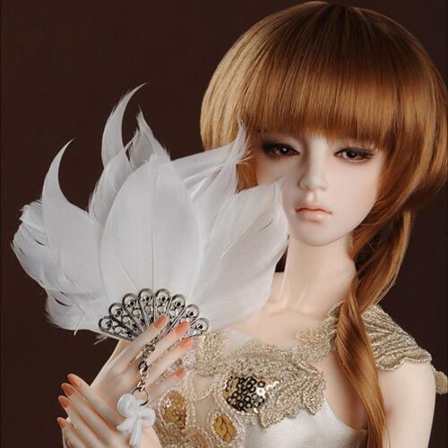White Eiteli Fan Dollmore common size doll accessory MSD /& SD