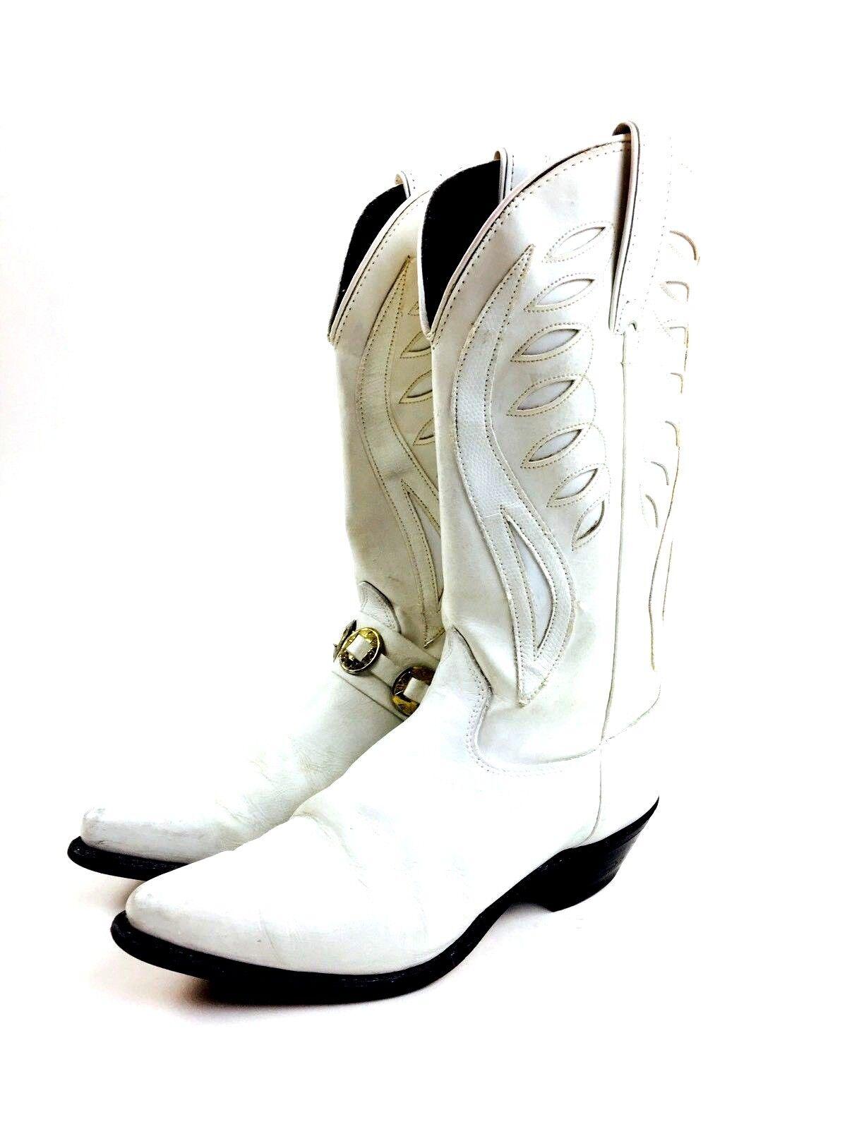 White Cowboy Boots Women's Shoes Women's Boots He… - image 4