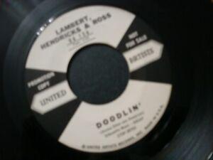 LAMBERT-HENDRICKS-amp-AND-ROSS-SPIRIT-FEEL-45-RECORD-DOODLIN-PROMO