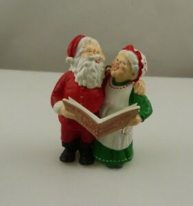 Santa-and-Mrs-Clause-vintage-1989-Christmas-ornament-xmas