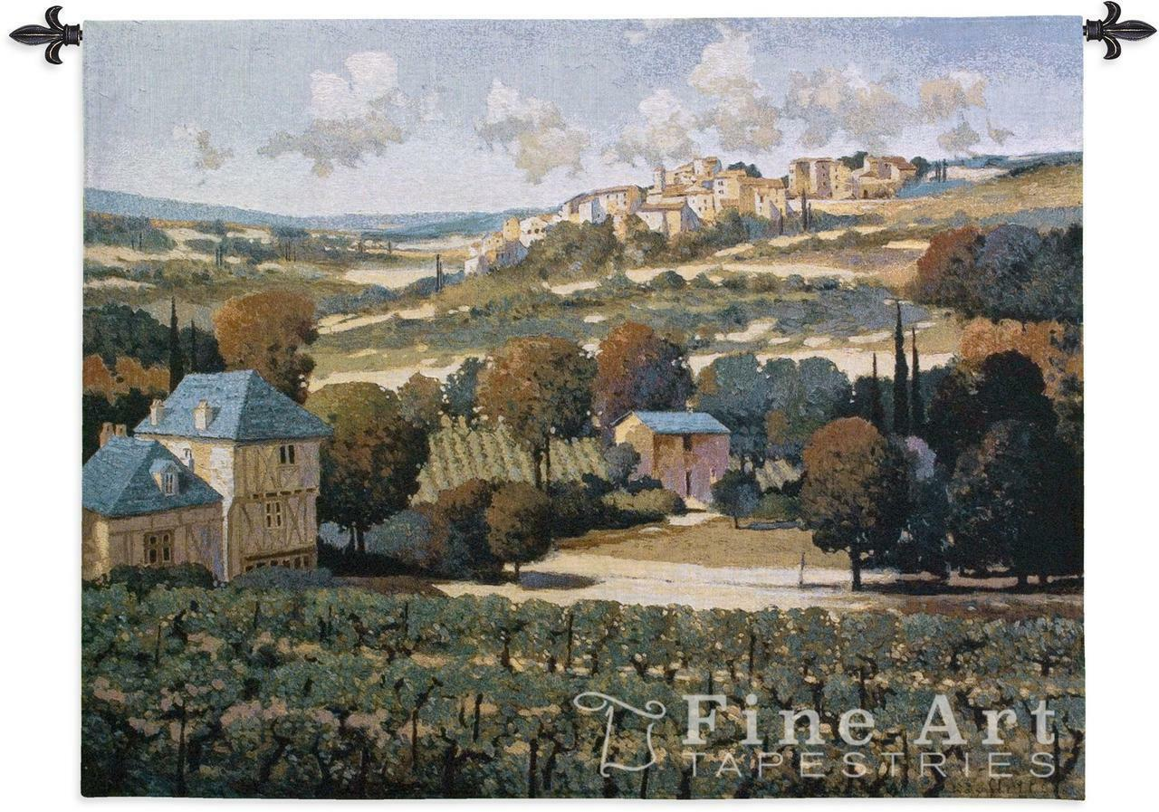 Vineyards of Provence Landscape Tapestry Wand Hanging