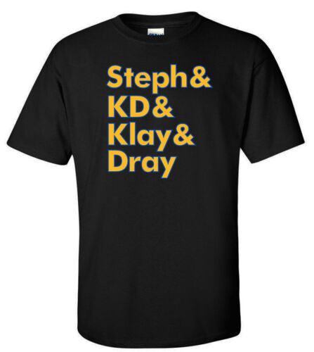 """KD Steph Curry Kevin Durant Golden State Warriors /""""Steph KLAY DRAY/""""  T-Shirt"""