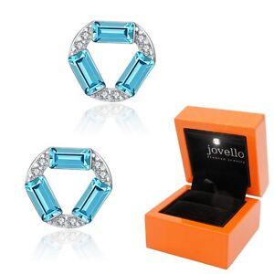 Zirkonia-Kristall-blau-Ohrstecker-Ohrstick-aus-925-Silber-LED-Schmuckbox