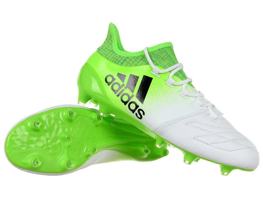 Para Hombre Adidas Zapatos De Fútbol X 16.1 Cuero FG terreno firme Moldeado Tachuelas