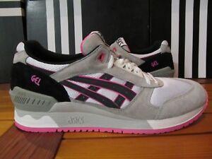 Details zu NEW Asics Gel Respector Black White Grey Pink 11 H5W2L 0190 fieg lyte 3 kith iii