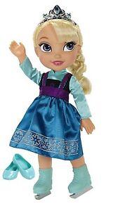 Ice-Skating-Princess-Elsa-Frozen-Toddler-Doll-Disney-3-Years