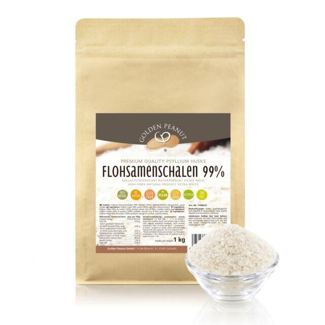 Premium Flohsamenschalen 1kg indische Flohsamen extra weiß keimreduziert