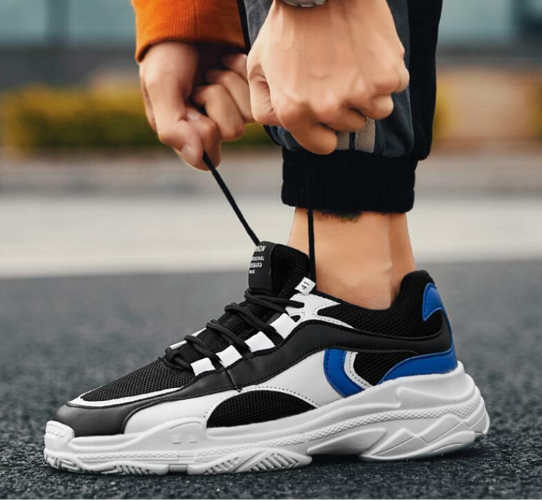 Mens Sneakers Breathable Athletic Sports Lace Up Trainer Running shoes hkam