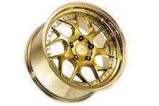 18x9.5 Aodhan DS01 5x114.3 +30 Gold Vacuum Rims Fits S2000 CRZ Civic SI 5x4.5