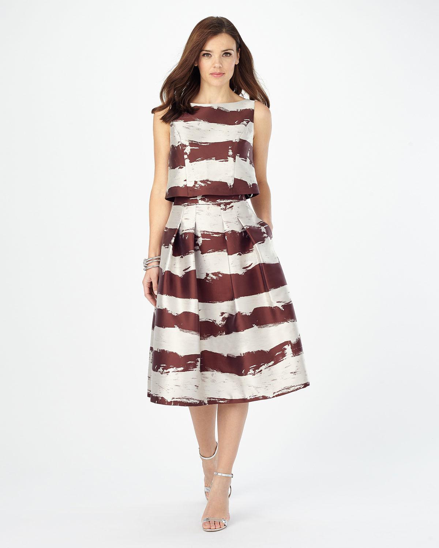 Phase Eight Brush Stroke Skirt Size Aubergine Oyster LF086 BB 01