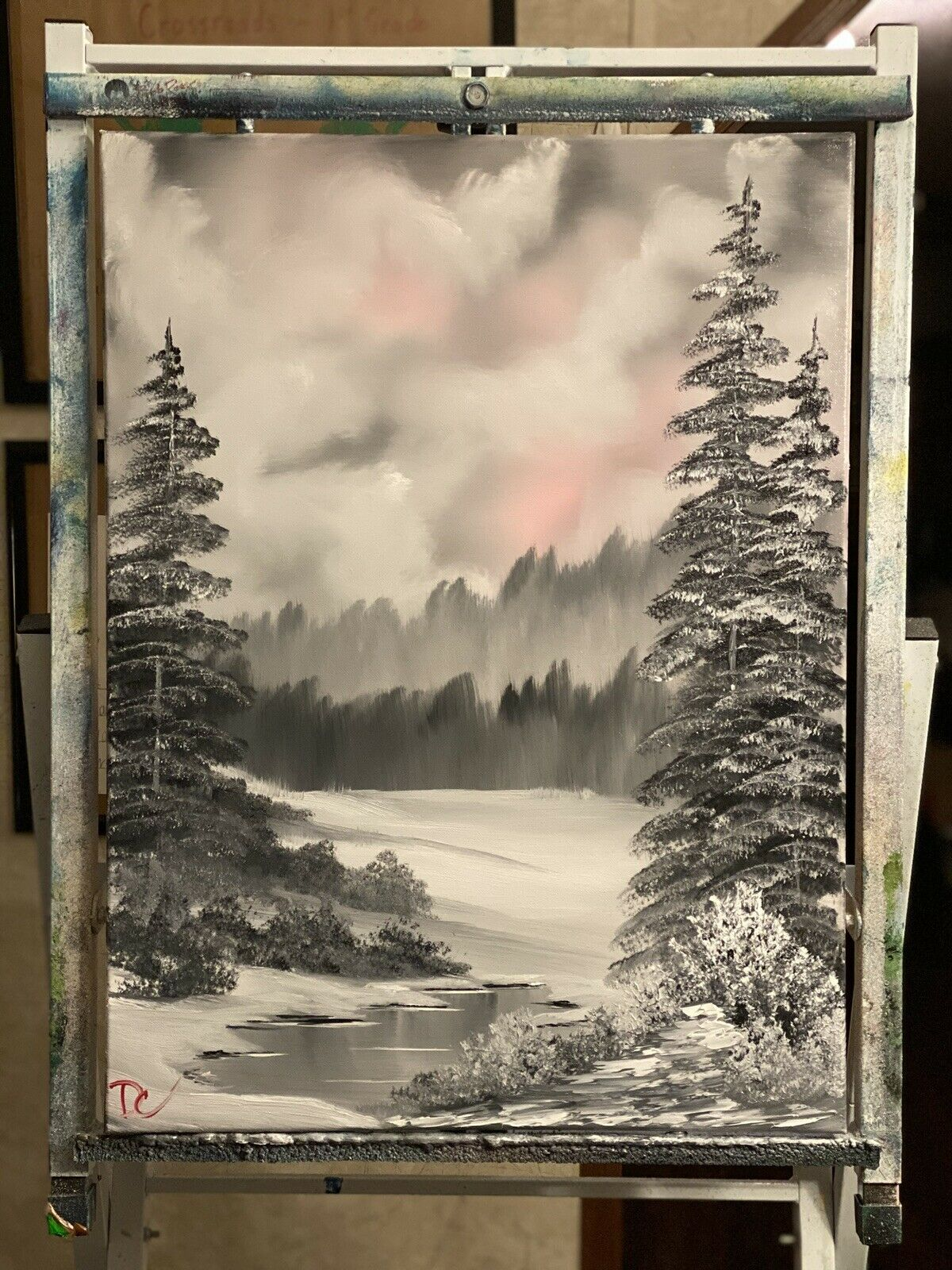 Landscape Oil Painting - Art Inspired by Bob Ross 2