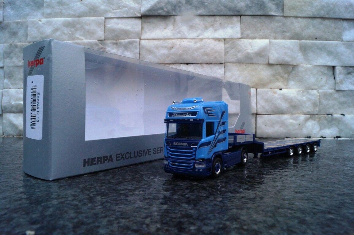 Herpa Scania R 13 Topline semitieflade autoarticolati  Schumacher  NUOVO OVP 1 87