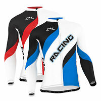 Fdx Mens Cycling Jersey Long Sleeve Winter Thermal Cold Wear Racing Cycling Top