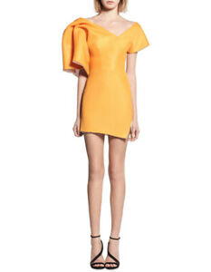 NEW-Maticevski-Peacock-Cocktail-Dress-Orange