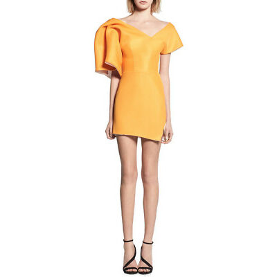 NEW Maticevski Peacock Cocktail Dress Orange