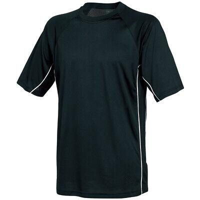Mens Alcott white black college USA American Cotton t shirt Size medium Large