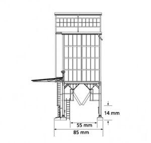 Auhagen 11446 HO-Bausatz Getreidespeicher 1:87 neu und mit Verpackung