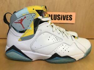 size 40 71d75 654da Image is loading Nike-Air-Jordan-VII-N7-White-Blue-Turquoise-