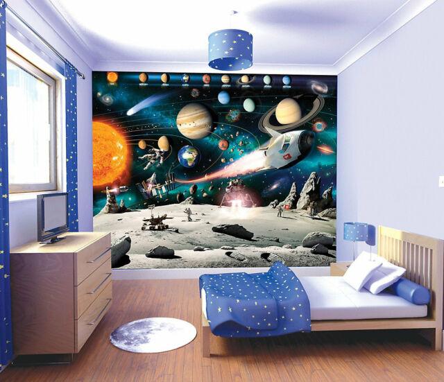Wandtattoo Wandbild Kinderzimmer Cm 244x305 Space Adventure 41837 Walltastic