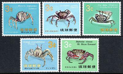 Mnh Painstaking Ryukyu 173-177 Crabs 1968-1969