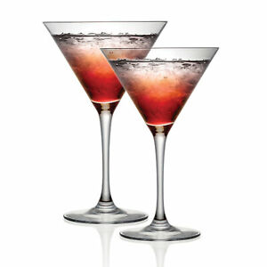 Cristal D'Arques Cocktail Martini Glasses Party Drinking Set of 2 300ml P506388