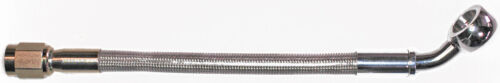 "AN-3  44/"" long stainless steel braid hose ST X 45ø banjo 3//8/""-10M  CC"