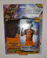 Rocket Raccoon Costume & Mask Set Kids Size 8-10 Guardians Of The Galaxy Marvel