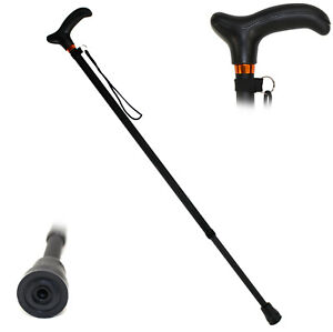 GEHSTOCK Aluminium Spazierstock mit Soft-Touch-Griff Gehhilfe schwarz ~cf375