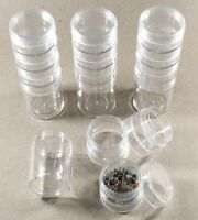 Stacked Plastic Bead Round Storage Bead Containers-set Of 16 (4 Stacks)
