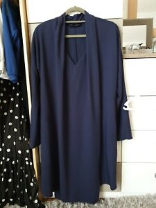 Piazza Sempione Blue Dress. Size 12. IT 42. Pockets.