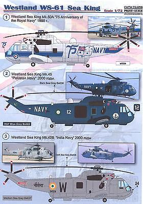 Print Scale Decals 1/72 WESTLAND WS-61 SEA KING Helicopter