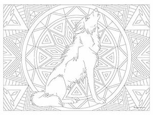 Details about Giant Coloring Poster - Wolf (32\